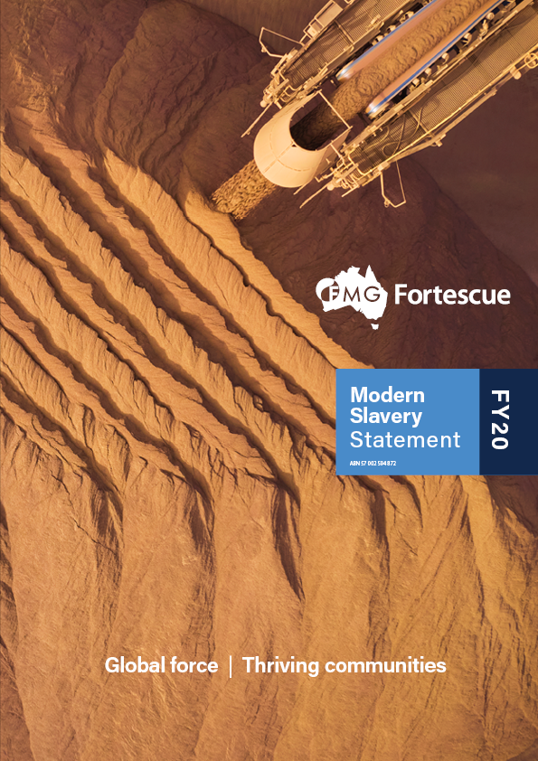 Cover - Modern Slavery Statement